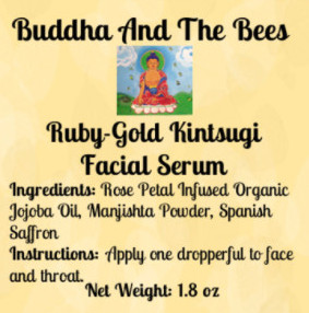 Buddha And The Bees Ruby Gold Kintsuji Facial Serum Label