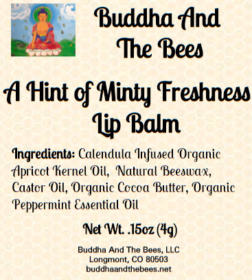 Buddha And The Bees Mint Lip Balm Label