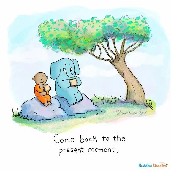 Today's Doodle: Come back to the present moment