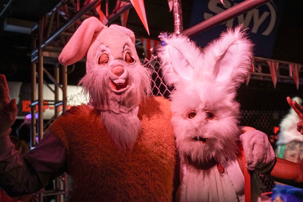 Full-Bunny-Contact-Easter-Carnival-NYC-jousting-cage-match-creepy-bunny-suits-battle-prizes-lower-east-side-rivington-buddha-drinks-fanta-04857