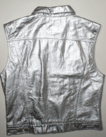 back silver leather