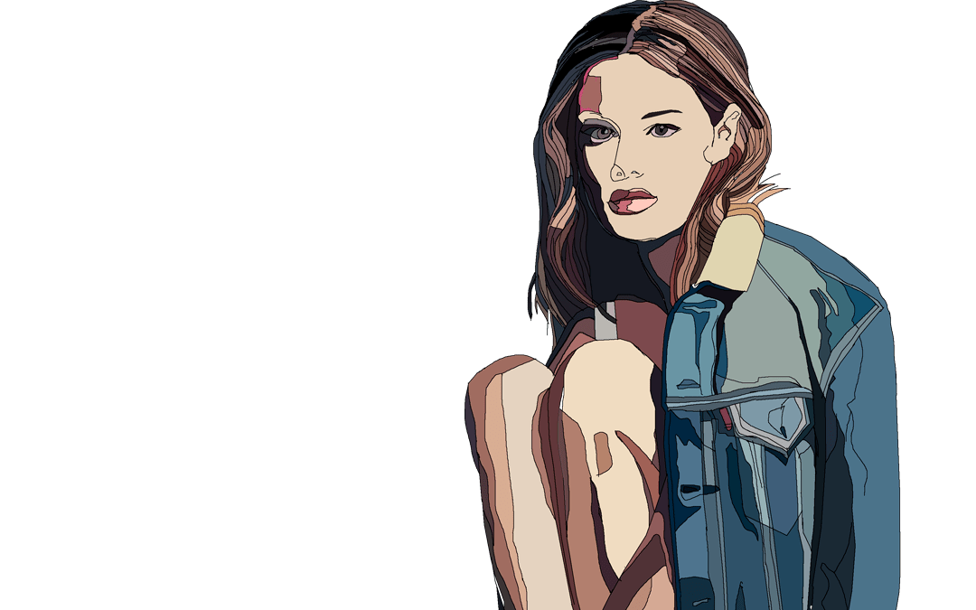 Camille Rowe Fashion Models Illustration Series
