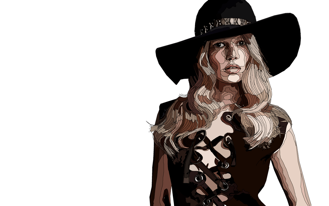 Anna Ewers Fashion Models Illustration Series