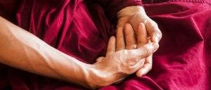 Hands in meditation, beginners meditation classes in Leeds
