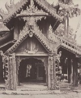 Carved Doorway in Courtyard of Shwe Zeegong Pagoda