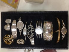 Silver jewelry -various
