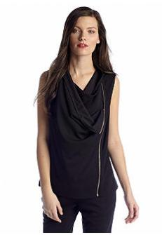 DKNY Sleeveless Asymmetrical Vest