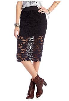 Free People lace pencil midi