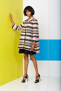 Pink Tartan: Scoop Neck Dress $295, Swing Coat $795