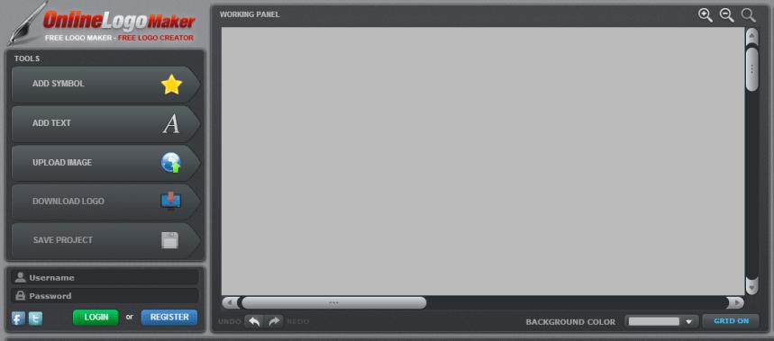 UI of onlinelogomaker