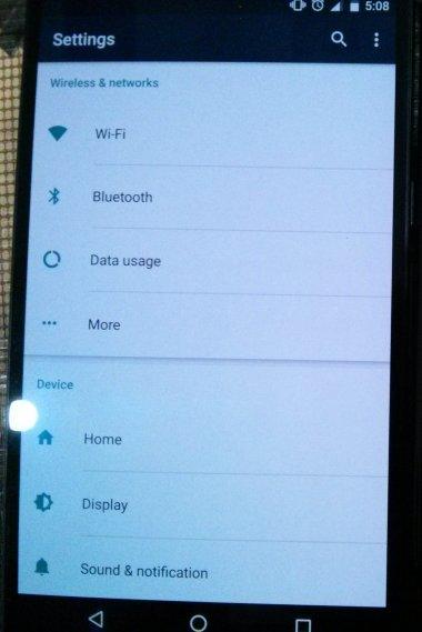 nexus 6p screen after activating screenbalance