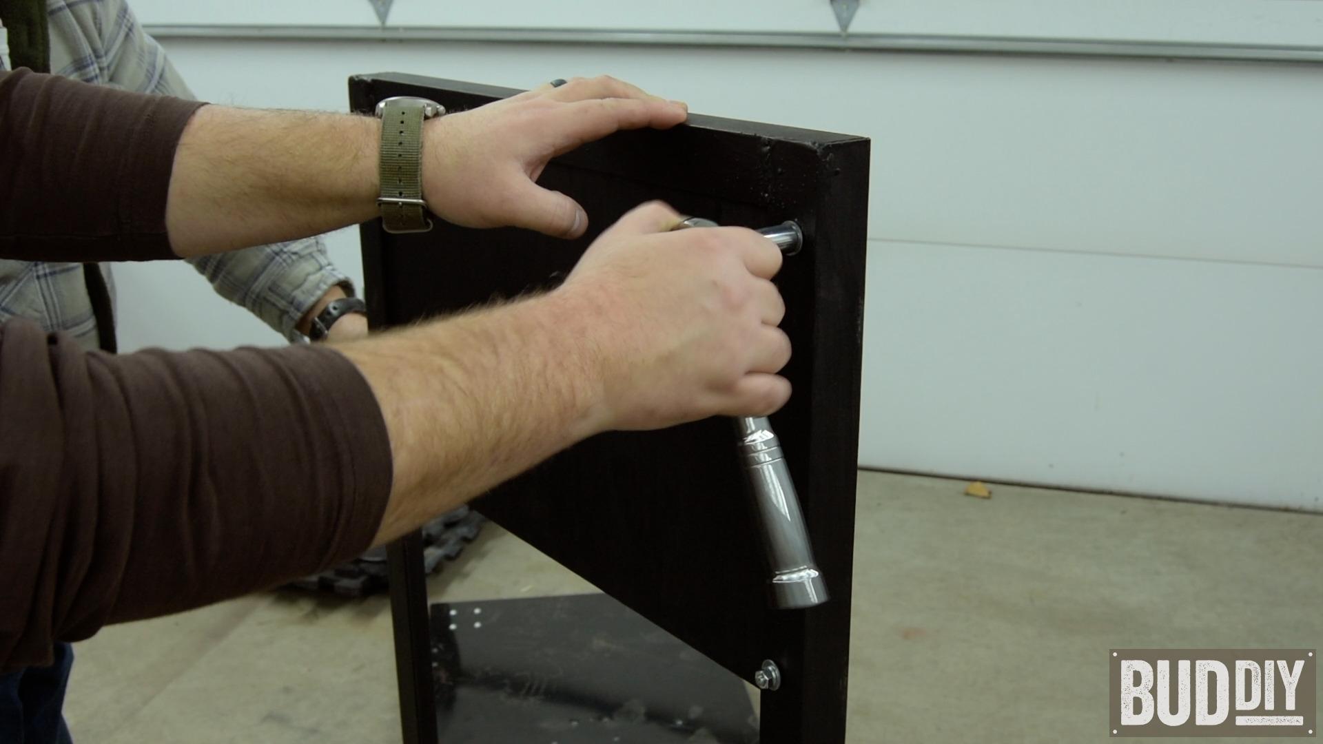 Secure motor mount board