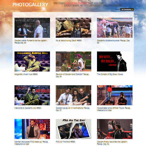 Bigg Boss 8 Biased TV Reality Show Snapshot from Gallery