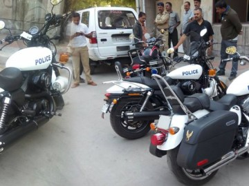 Gujarat Police is now having Harley Davidson bikes Photos