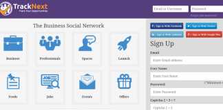 India's first Business Social Network Track Next