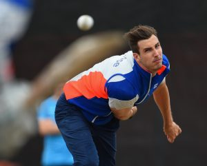 CHRISTCHURCH, NEW ZEALAND - FEBRUARY 22: Steven Finn of England bowls during an England nets session at Hagley Park Oval on February 22, 2015 in Christchurch, New Zealand. (Photo by Shaun Botterill/Getty Images)
