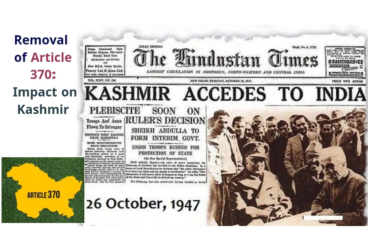 Removal of Article 370: Impact on Kashmir