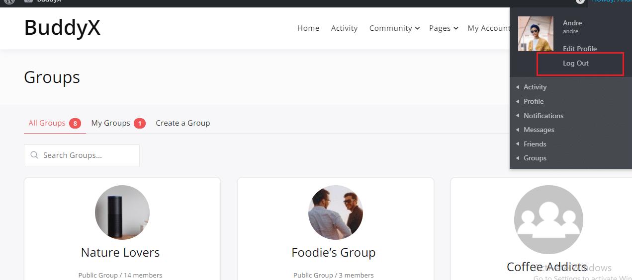 LH BuddyPress plugin