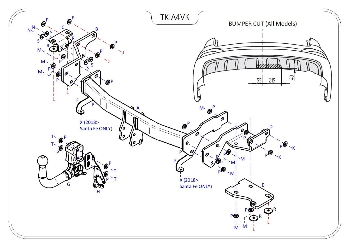 Hyundai Santa Fe Detachable Towbar Dm Inc Adblue