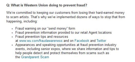 is western union safe - fraud prevention