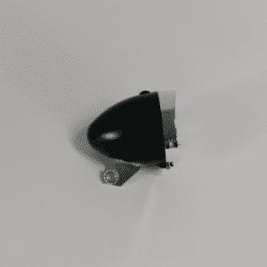 Omafiets koplamp zwart