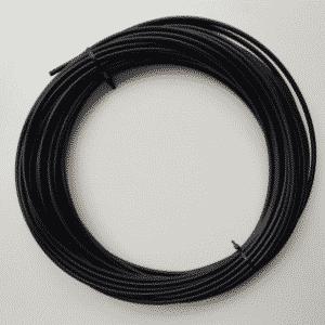 Buitenkabel remkabel rol 25 meter zwart