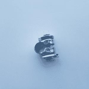 Losse zadelstrop zilver