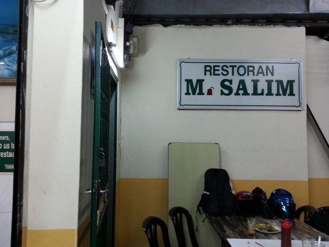 ENTRANCE TO RESTAURANT SALIM