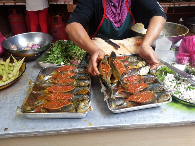 SAMBAL STUFFED FISHES READY TO BE FRIED