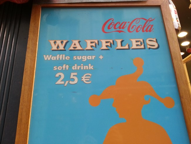 THE WAFFLE PLACARD