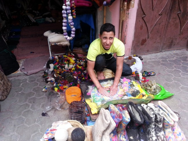 HANDICRAFT IN THE MAKING AT THE SOUK