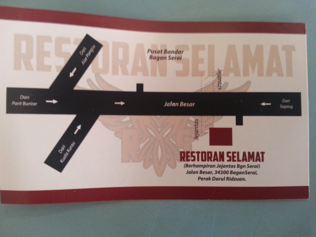 LOCATION OF RESTORAN SELAMAT