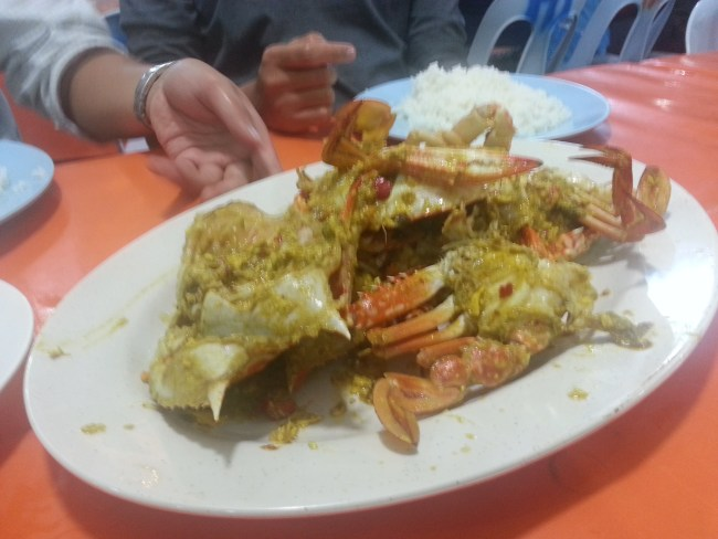 FRIED CRABS THICK  CURRY DISH