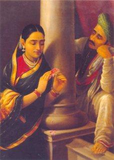 Painting in Salar Jung Museum in Hyderabad