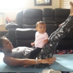 Baby and momma doing pilates