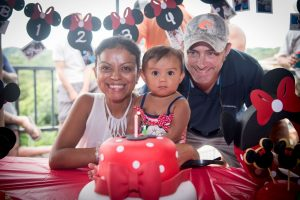 Minnie Mouse and her parents