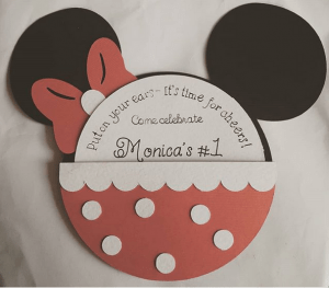 La fiesta perfecta: Minnie Mouse en las invitaciones