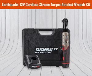 "Earthquake 12V Max Lithium ⅜"" Cordless Xtreme Ratchet"