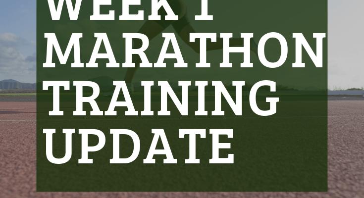 First Marathon Training Week 1 Update: Splitting Up a Long Run? Cross Training? #26by26