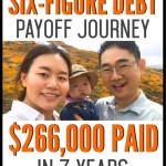 Six-figure debt payoff can feel almost impossible to pay off. See how this real-life couple was able to conquer their student loan debt, credit cards, car loan and more! Learn how they were able to pay off six-figures of debt in just 7 years. This is a wonderful example of how anyone can become debt free! #debtpayoff #studentloans #debtfree #savemoney #freeprintables