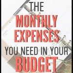 You need to budget for monthly expenses. If you are new to budgeting, these are the most common monthly expenses you are going to run into. Over time, you will refine your budget for exactly what you need, but this is a great place to start! Use this budgeting tip to get started today! #budgettips #budget #financetips