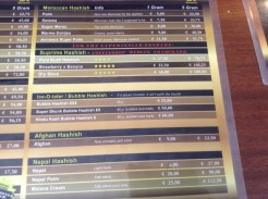 menu coffeeshop de pijp Club Media Has 2016