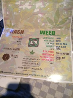menu coffeeshop hash weed LaTertulia 2016 july