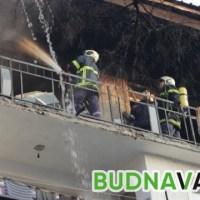 Огнен ад в апартамент на 9-ия етаж, 4 пожарни гасиха огъня