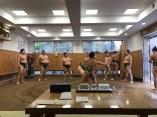 Sumo wrestling training in Tokyo