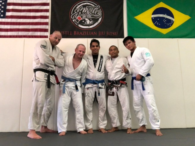 Training at Hustle BJJ Academy in Santa Ana, CA
