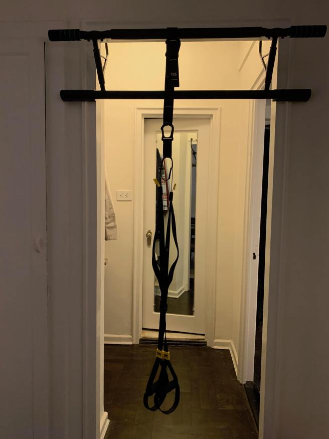 pull-up bar and trx suspension trainer