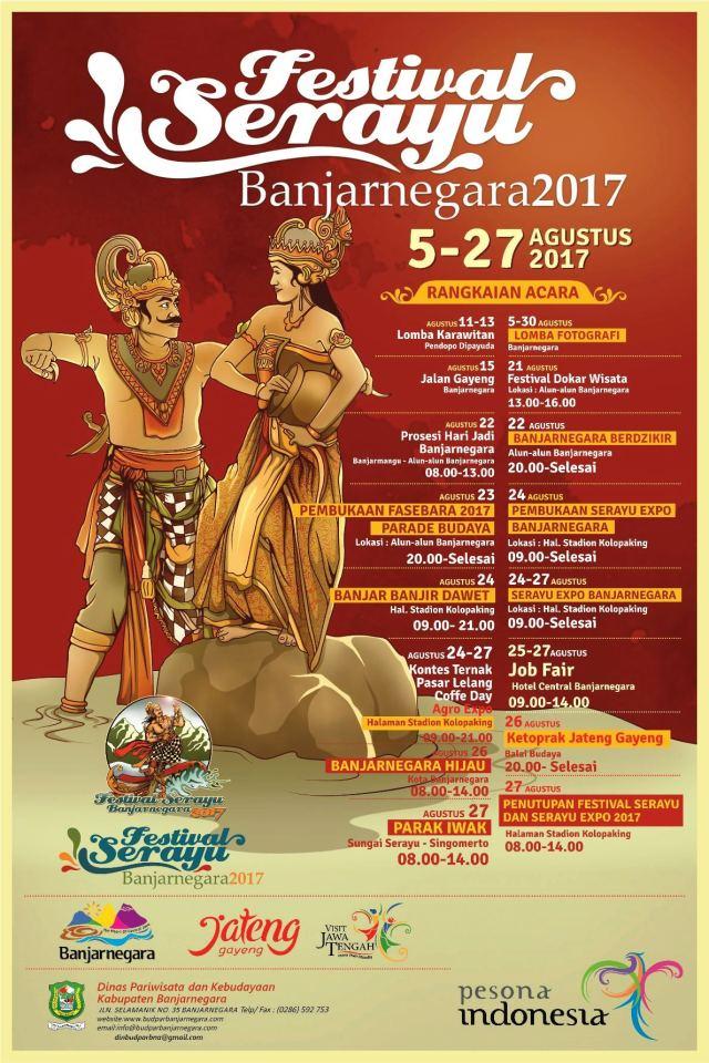 e-pamflet Festival Serayu Banjarnegara 2017, via budparbanjarnegara.com
