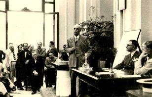 Schiassi durante un congresso medico nel 1938 (prop. Leonardo Arrighi).