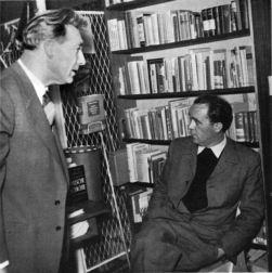 Witsch und Böll 1954 am Tag des Buches in der Schrsdorff´schen Buchhandlung Düsseldorf | ©Archiv Kiepenheuer & Witsch